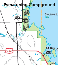 Map Of Pymatuning Campground, Pymatuning State Park